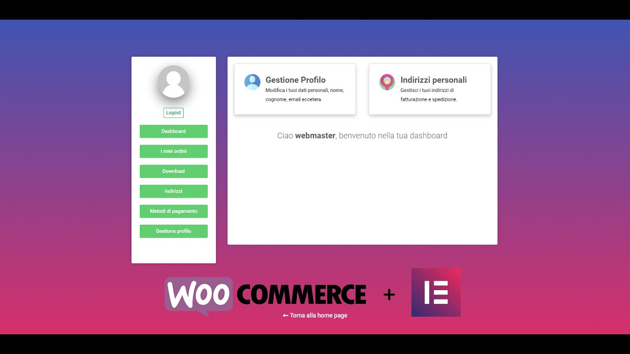 How to customize the WooCommerce my account page with Elementor